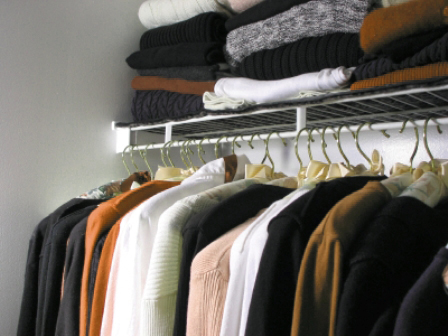 "Closet full of clothes: ""nothing to wear"""