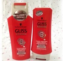 شامبو وبلسم GLISS الأحمر للشعر المصبوغ