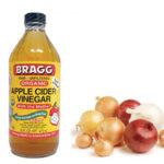 خل التفاح وعصير البصل لتفتيح تصبغات البشرة!